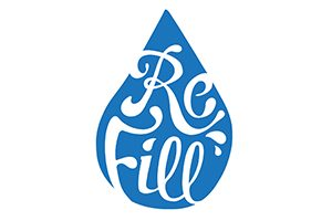 Call in with your reusable water bottle for a free refill of filtered still or sparkling water when you're out and about.